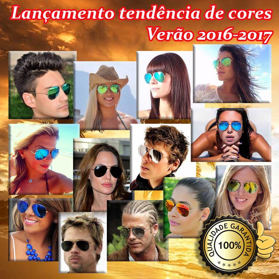 e9e9e8886 óculos de sol unisex estilo aviador- coleção verão 2016-2017. Carregando  zoom.