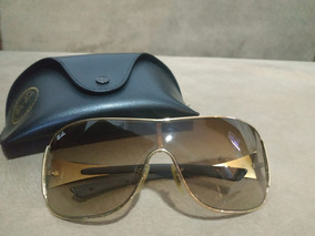 10fa0f3f6e Óculos Ray Ban Rb 3321 Mascara Dourado Lente Marrom Degrade - Óculos ...