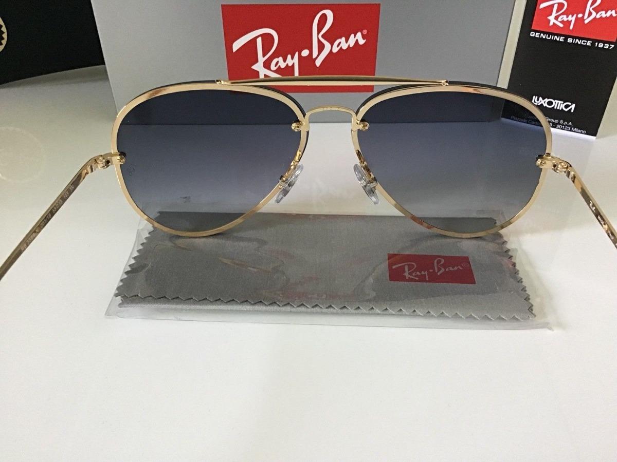 5bf27f07c7d66 oculos de sol unissex aviador ray ban blaze rb3584n uv400. Carregando zoom.