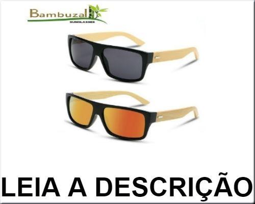 7f5a78b2f2019 Óculos De Sol Unissex Madeira bambu - R  250