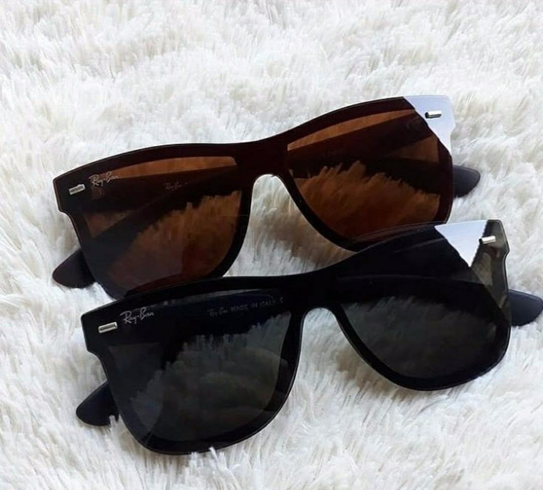48295e9cd4945 óculos de sol unissex quadrado lente azul espelhado preto. Carregando zoom.