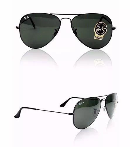 140970a0f6fd1 Óculos De Sol Unissex Rayban Preto Rb3025 2823 Tam.55 58 - R  255,35 em  Mercado Livre