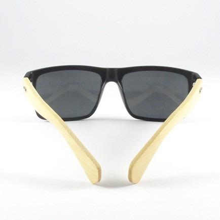 5f85fdaad Óculos De Sol Uv400 C/ Hastes De Bambu + Estojo E Flanela - R$ 59,90 ...