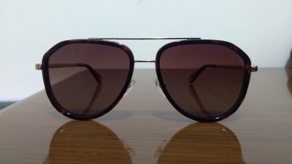 0b0de02de óculos de sol via lorran 4041 c2 aviador dourado e marrom. Carregando zoom.