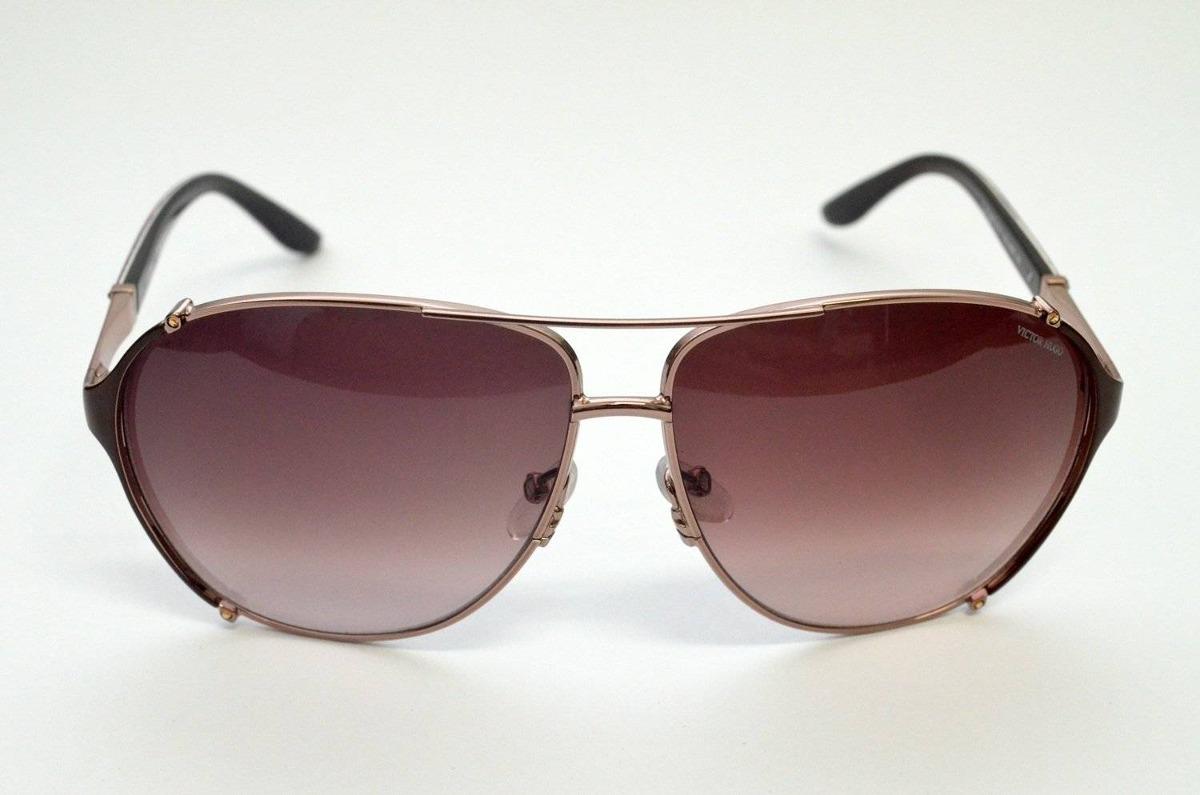 0dee81f77 óculos de sol victor hugo aviador rose sh1187s grande metal. Carregando  zoom.