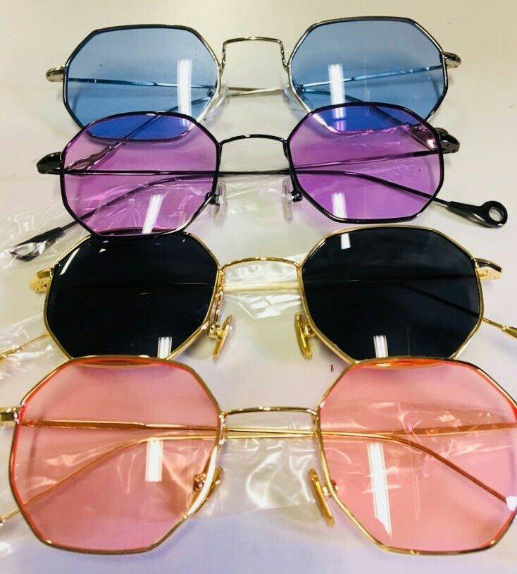 feca59a14f687 oculos de sol vintage hexagonal importado - pronta entrega. Carregando zoom.