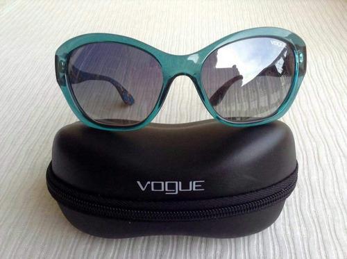 5f8d89e5f Óculos De Sol Vogue Original, Novo, Semi Espelhado, Cor Azul - R ...