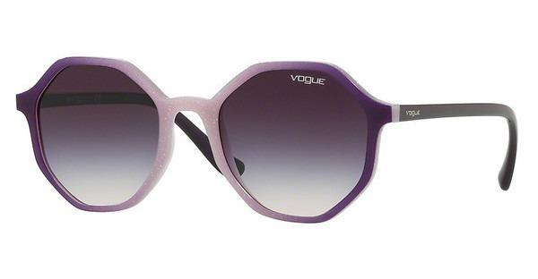4488bcc7f Óculos De Sol Vogue Vo5222s 264036 Roxo Degradê Branco - R$ 299,00 ...