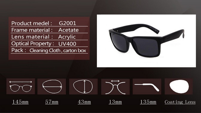 83b7d2581 Óculos De Sol Vonzipper Masculino Feminino Com Proteção Uv - R$ 79 ...
