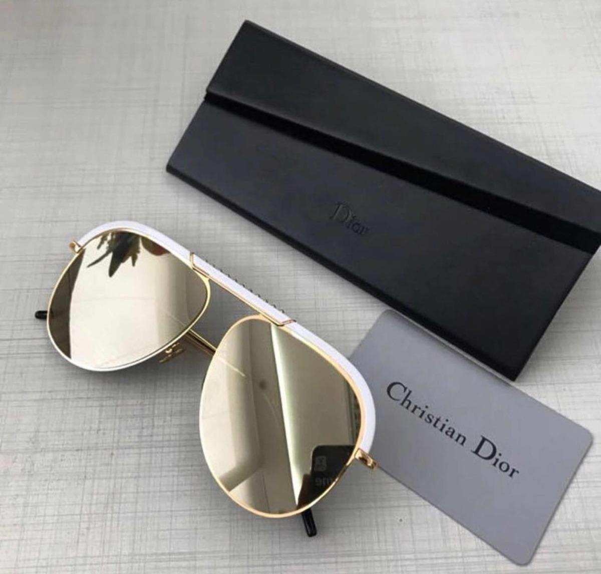fd3f21b74c4ce Óculos Dior Desertic Branco Off Original Completo - R  799