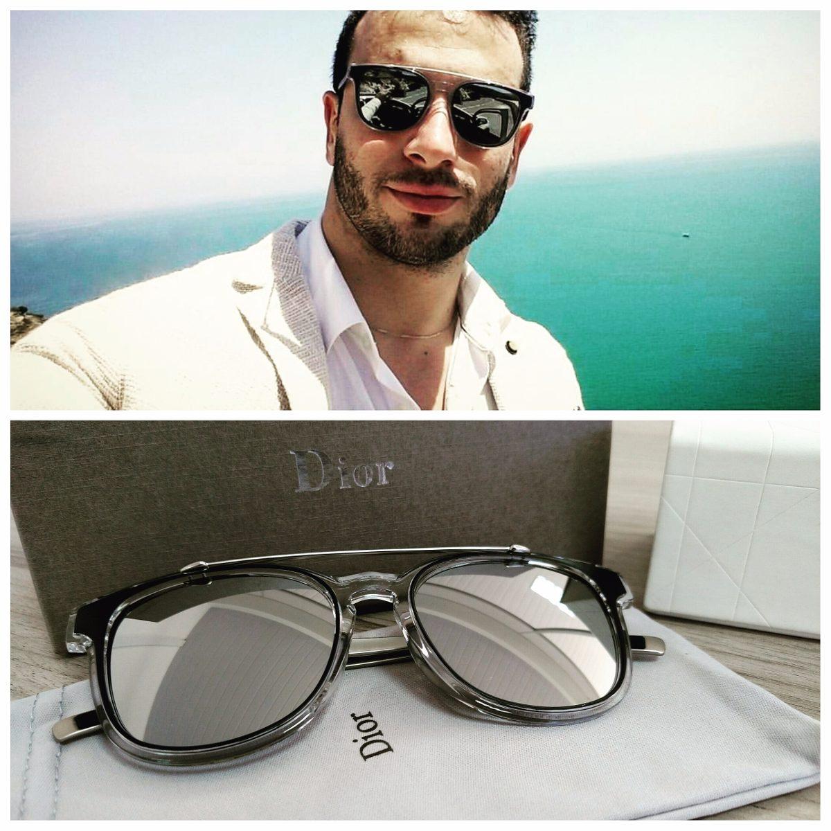 Óculos Dior Homme Black Tie 211s Lançamento - R  350,00 em Mercado Livre 834ac3cd6a