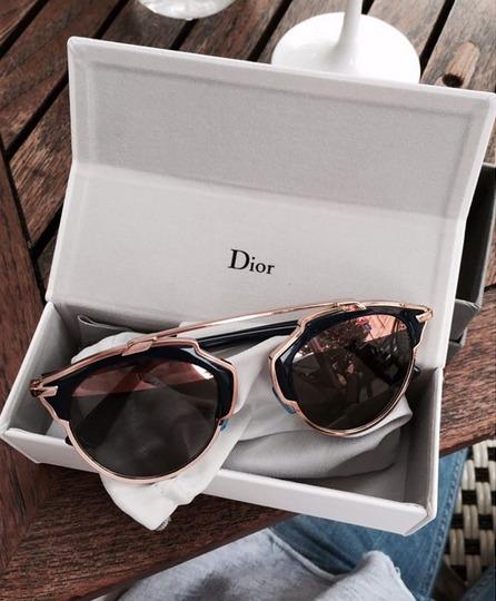 9e81d851ba0ba Óculos Dior So Real - Bleu Marine E Ouro Rosa - Importado - R  659 ...