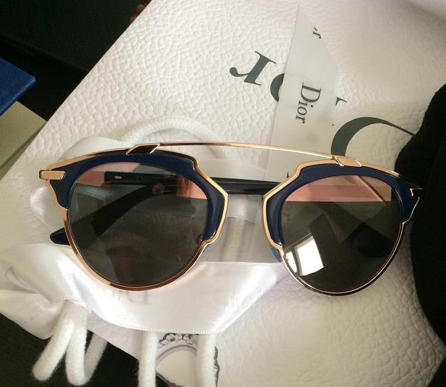 Óculos Dior So Real - Bleu Marine E Ouro Rosa - Importado - R  659 ... f927e4e5fe