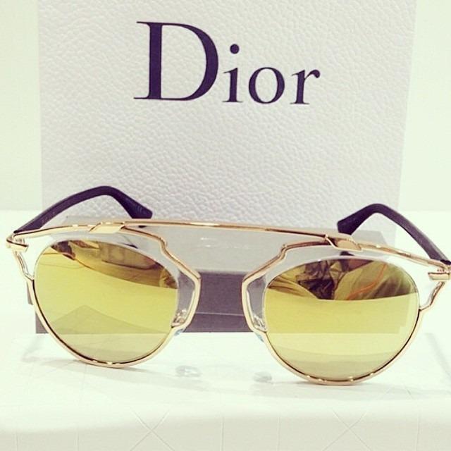 8a2e9d8e3d42a Oculos Dior So Real Dourado Original Lente Dourada - R  698