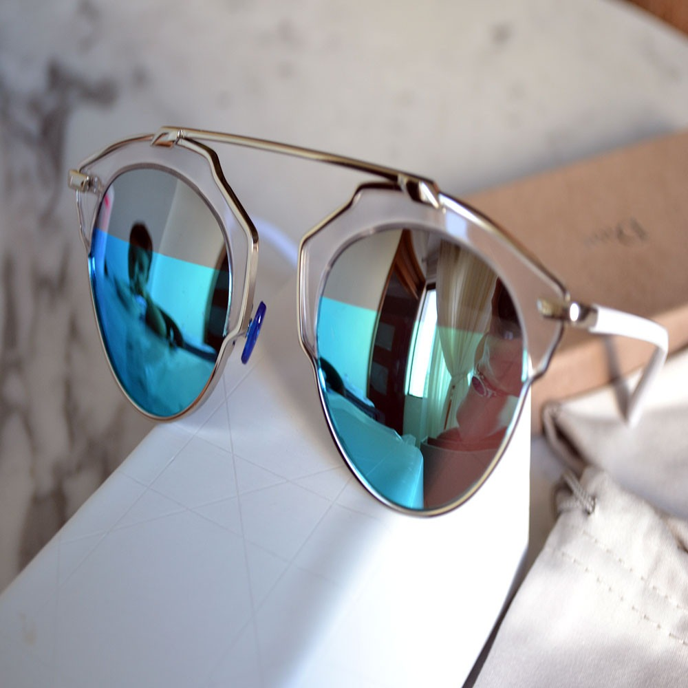 oculos dior so real original azul espelhado degrade prata. Carregando zoom. a8b968feeb