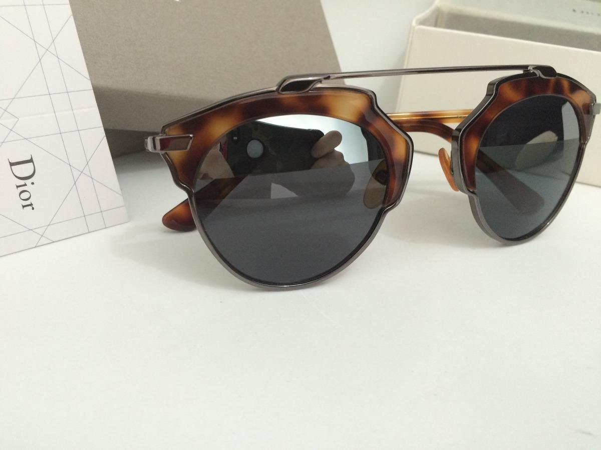 f120846e649 Óculos Dior So Real De Sol Na Oncinha tartaruga - R  450