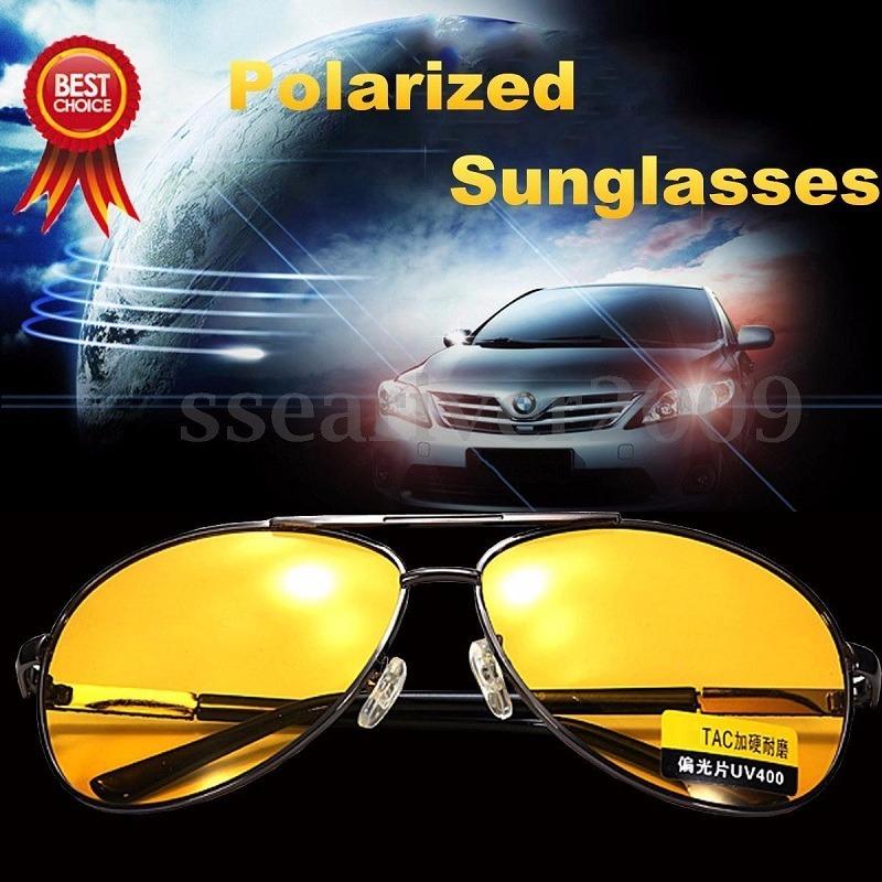 39b41b73d24a2 óculos dirigir a noite amarelo modelo aviador polarizado. Carregando zoom.