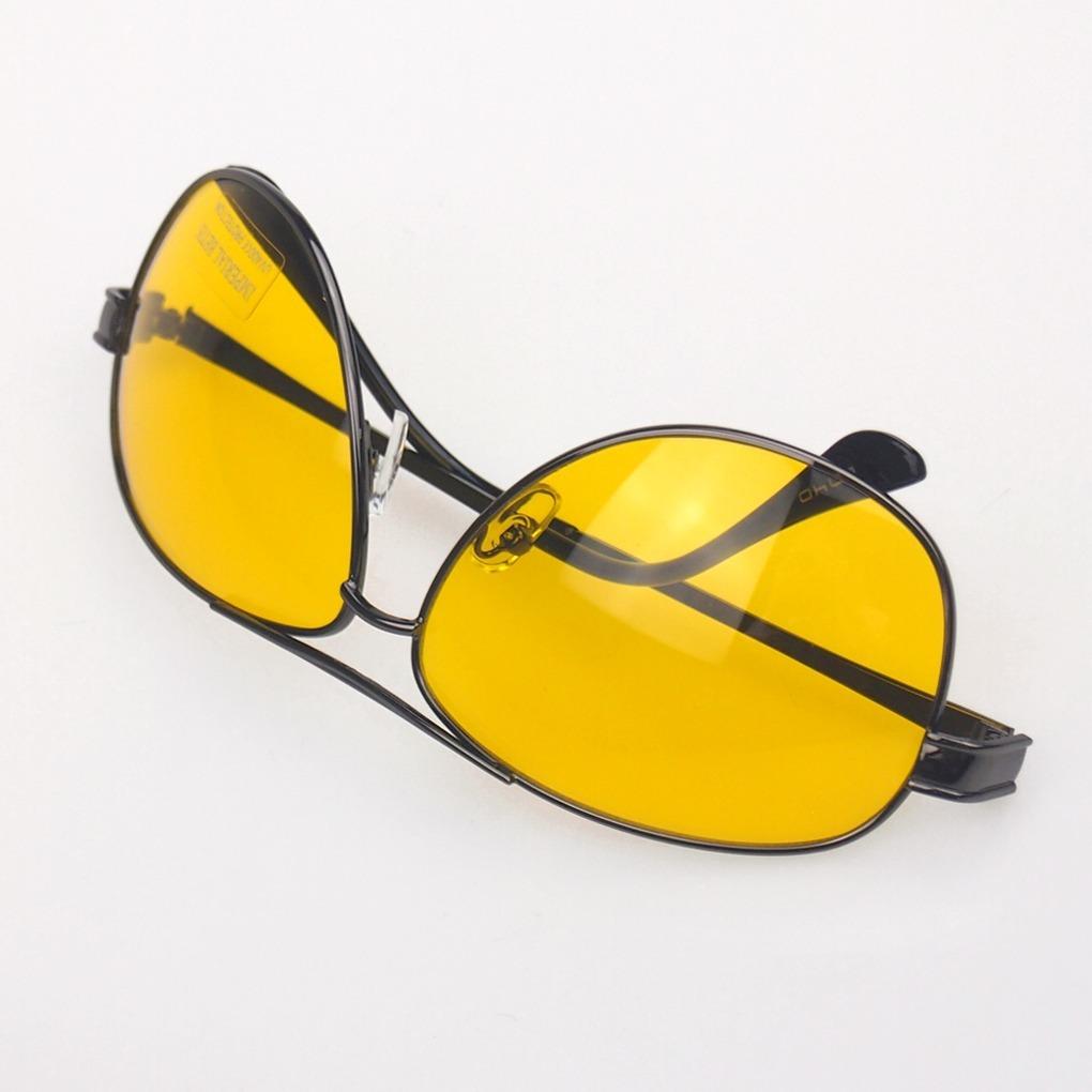 c4e429e175651 óculos dirigir a noite amarelo proteção uva estilo aviador. Carregando zoom.