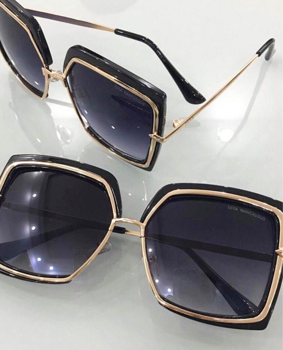 770e260b36c6d Óculos Dita Narcissus Preto Gold Novo Original Co Importados - R ...