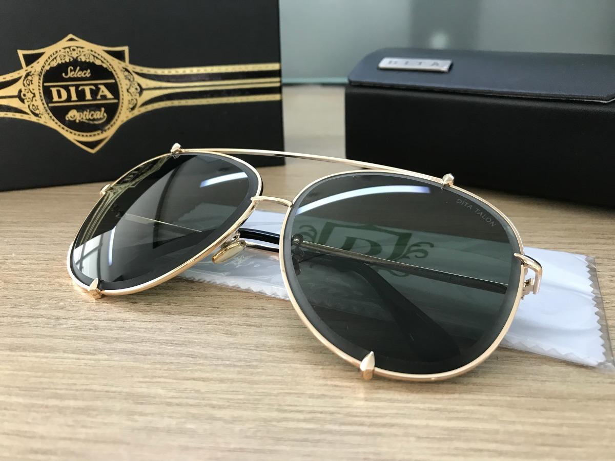5c8994db60e08 óculos dita talon aviador dourado lentes verdes unissex. Carregando zoom.