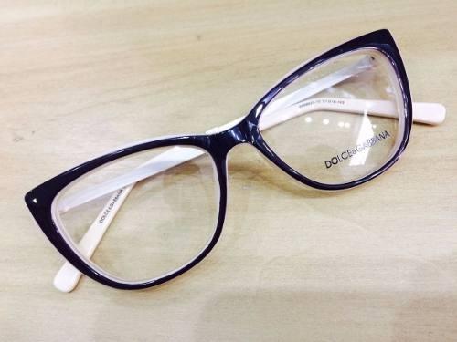 3c8e1f9396222 Oculos Dolce Gabbana Armação Em Acetato Gatinho Discreto - R  120