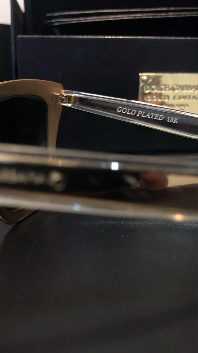 9dbdaad92ff51 Óculos Dolce Gabbana Limited Gold (ouro 18 Quilates) - R  1.800,00 ...