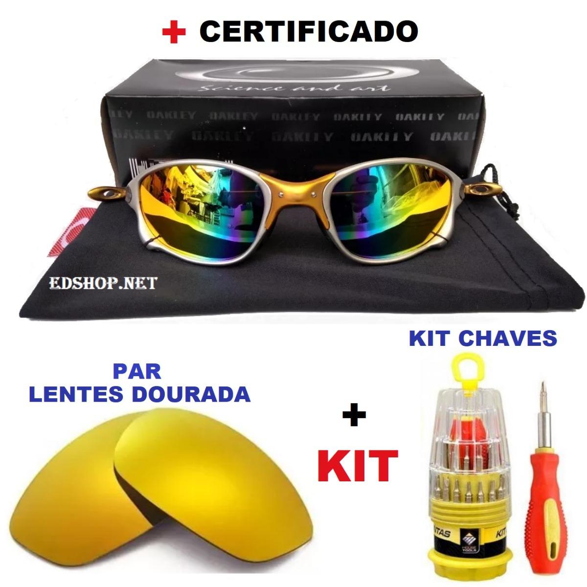 57ea2b5b3 Oculos Double Xx 24k Arco-iris + Kit Chaves + Par De Lentes - R$ 134 ...