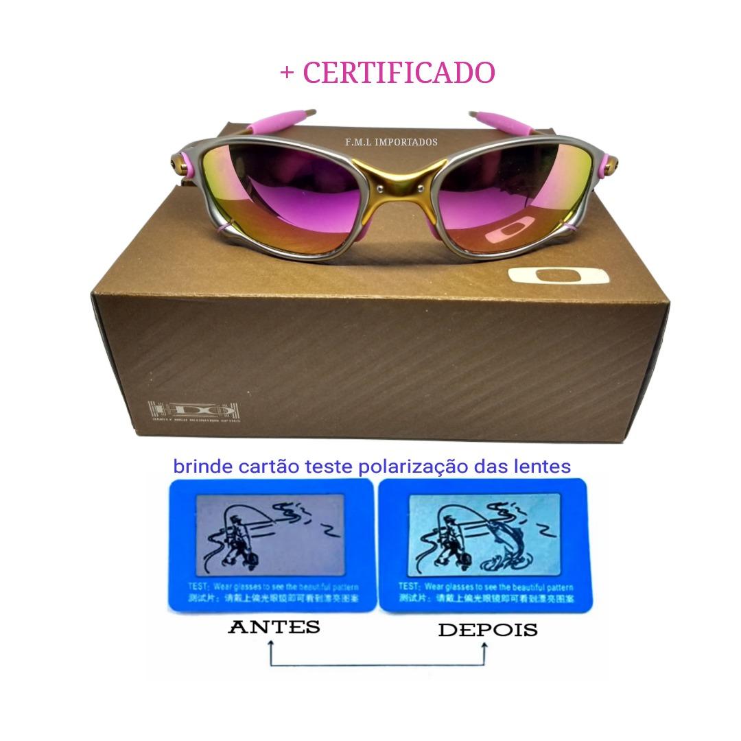 b148dfcaa Oculos Double Xx 24k Rosa + Teste+certificado+lentes 12x S/j - R$ 99 ...