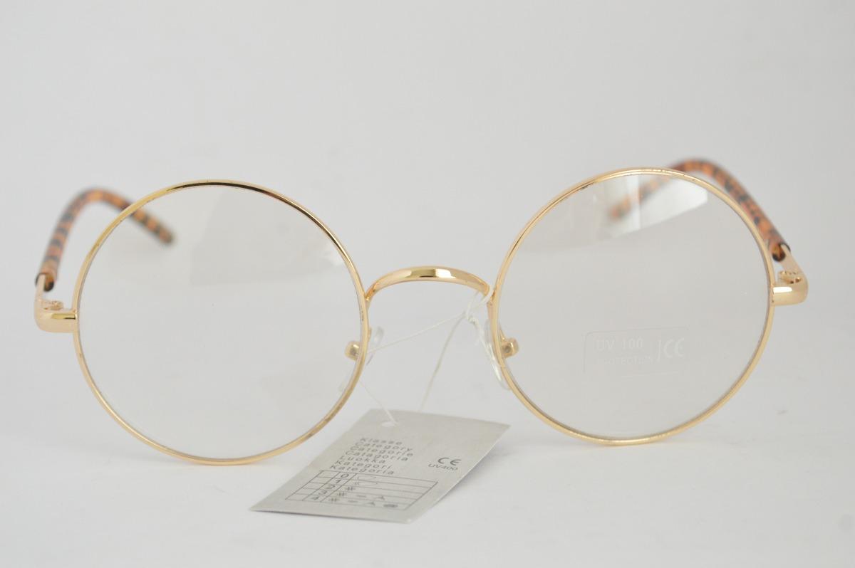 Óculos Dourado P Grau Redondo Detalhe Na Armação B73 - R  49,99 em ... 5ec3701a10