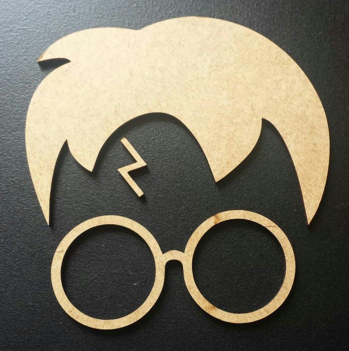 d99a744503669 óculos e raio harry potter aplique decoração mdf cru 80 cm. Carregando zoom.