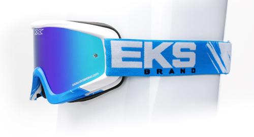 óculos eks brand x-fade vulcão motocross ciano bluebranco os
