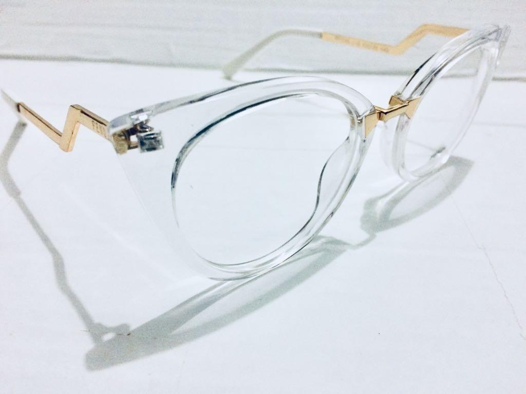 Oculos Em Acetato Fendi Preto Armação Para Grau - R  135,00 em ... 12a2b1b3a4