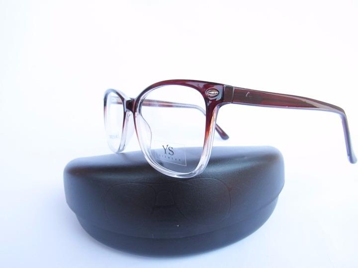 63b5ef6dad9f5 Oculos Em Acetato Para Grau No Cor Marrom Degrade - R  69