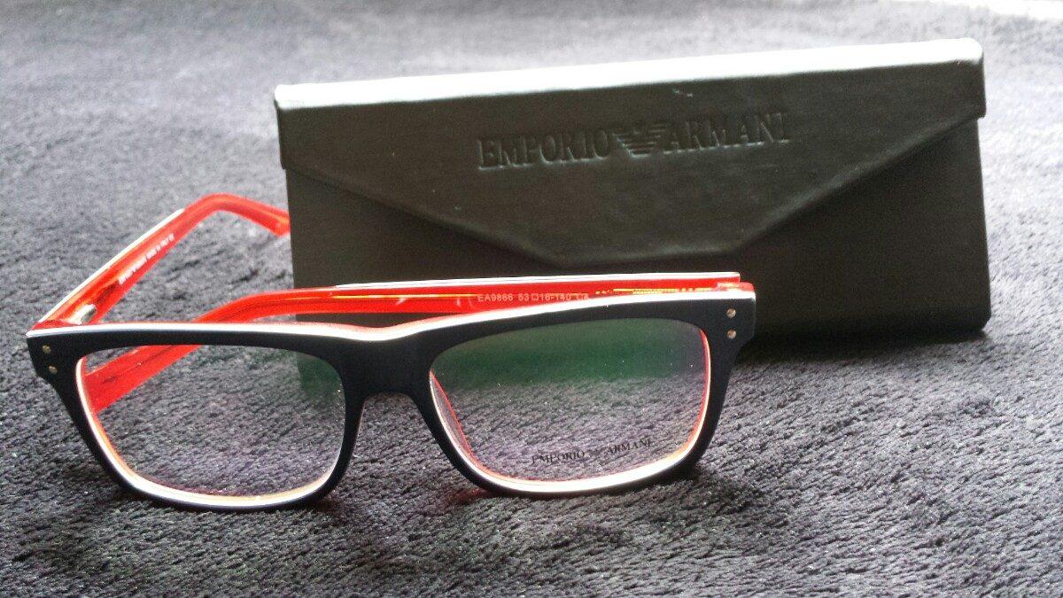 óculos empório armani quadrado vermelho, azul e branco. Carregando zoom. 76b32e6b5d