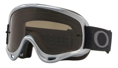 óculos enduro mx xs o frame prata  oakley