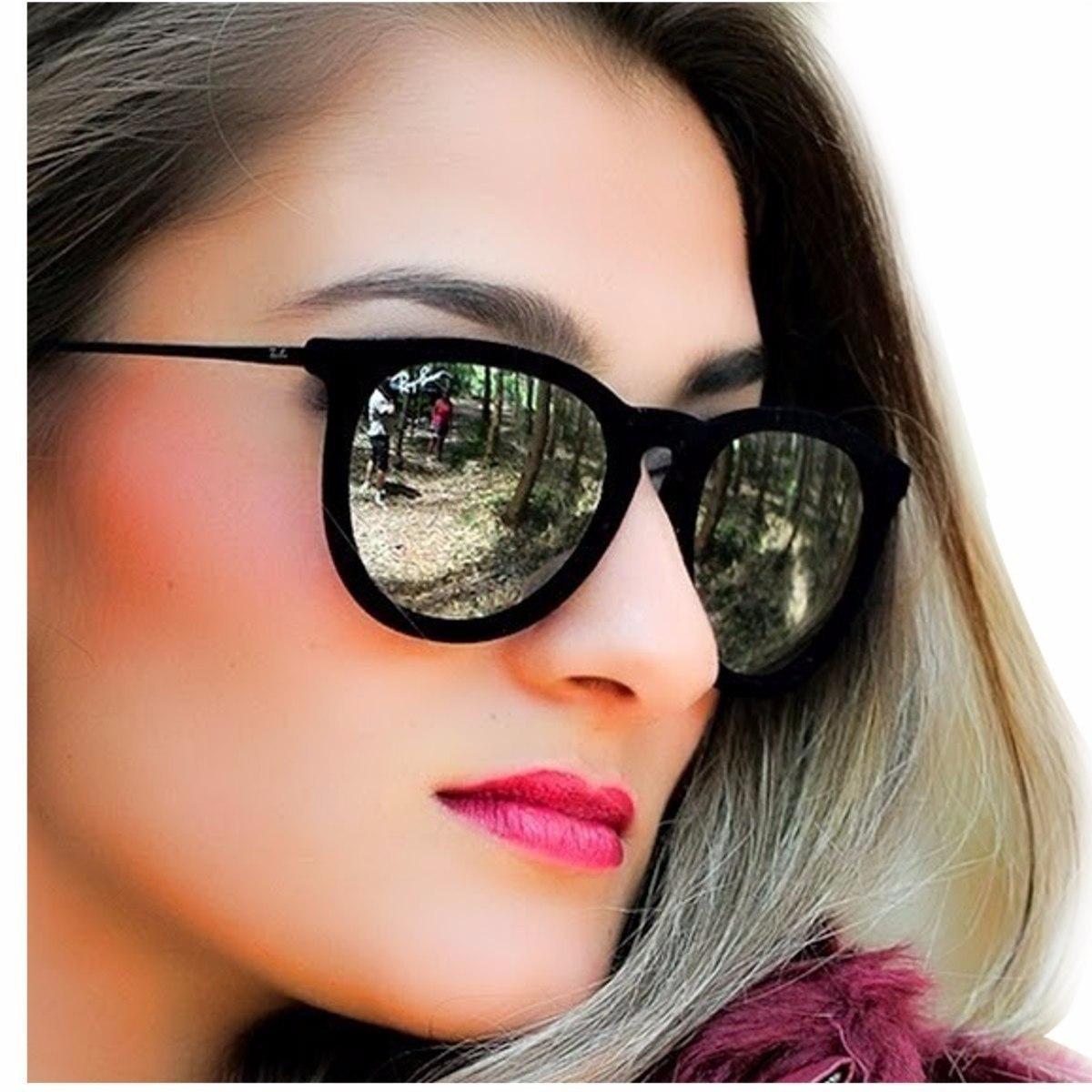 157970824 oculos erika veludo velvet rb4171 preto envio grátis+brinde. Carregando  zoom.