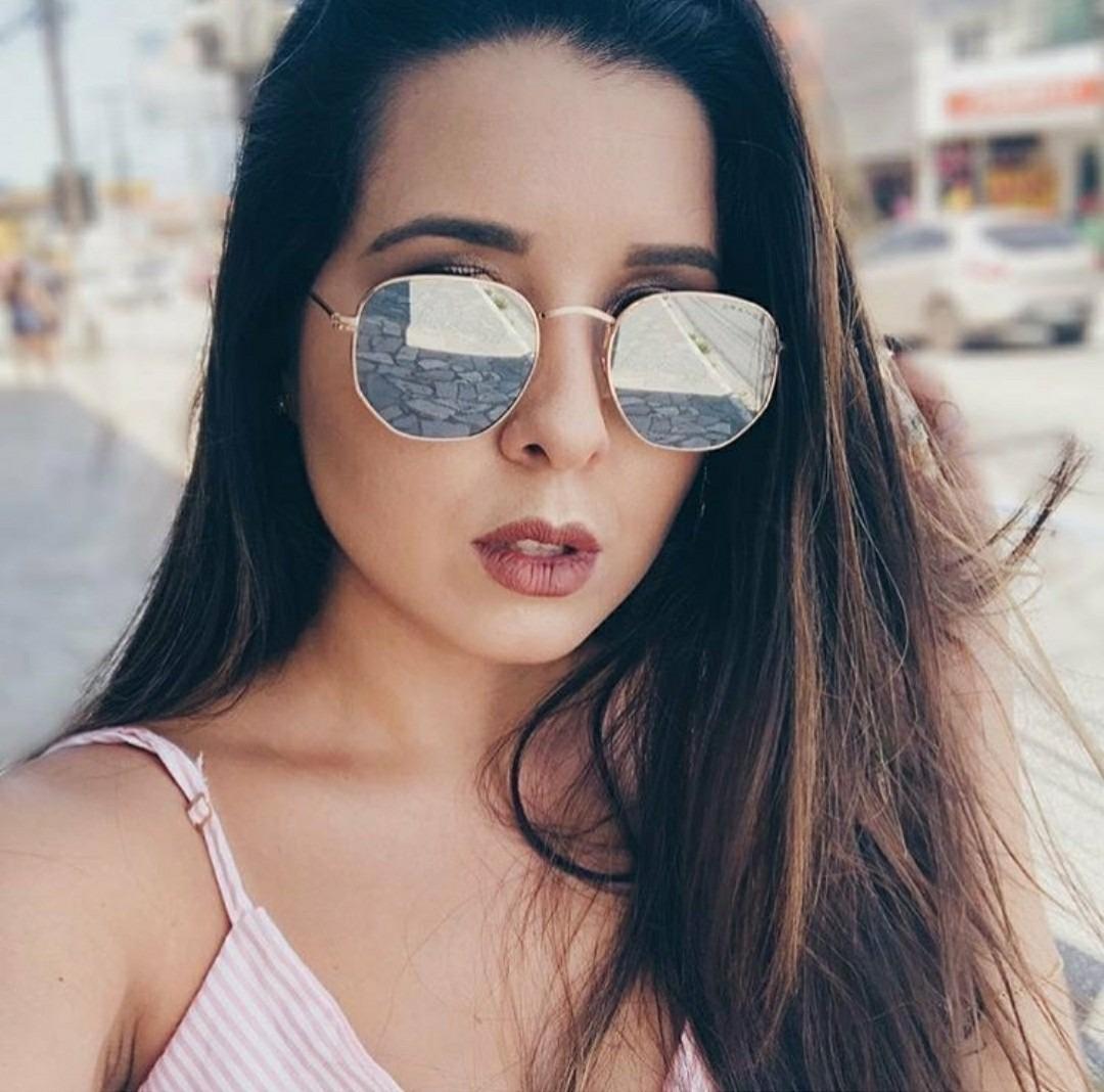 c40a9b1d6124c óculos escuro de sol moderno uv400 hexagonal luxuoso fashion. Carregando  zoom.