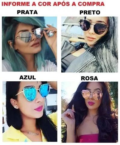 a127cd5a009ba Óculos Escuro Espelhado Para Mulher Blogueira Modinha Barato - R  39 ...