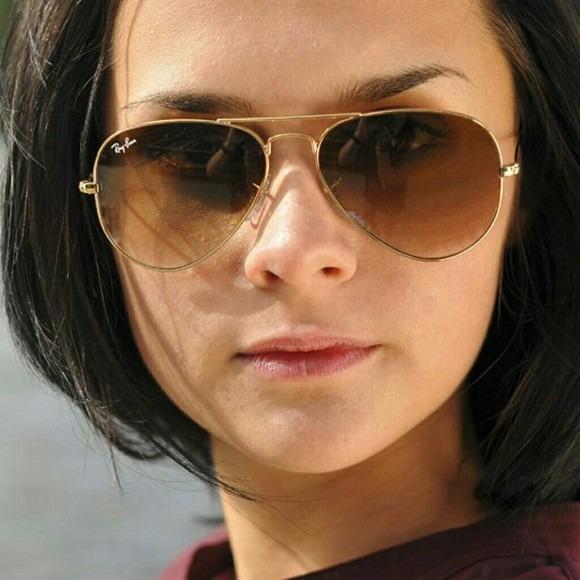2702a803a Óculos Escuro Feminino Aviador 3025/3026 Marrom Degrade - R$ 114,00 ...