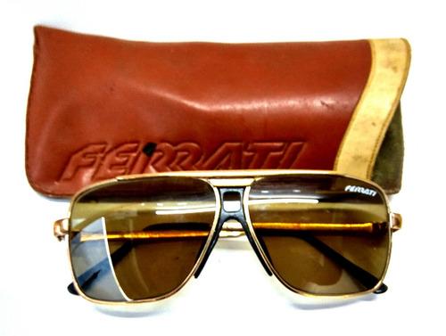 Óculos Escuro Ferrati Antigo Com Armação Dourada Anos 70 - R  399,80 ... 1725a533c0