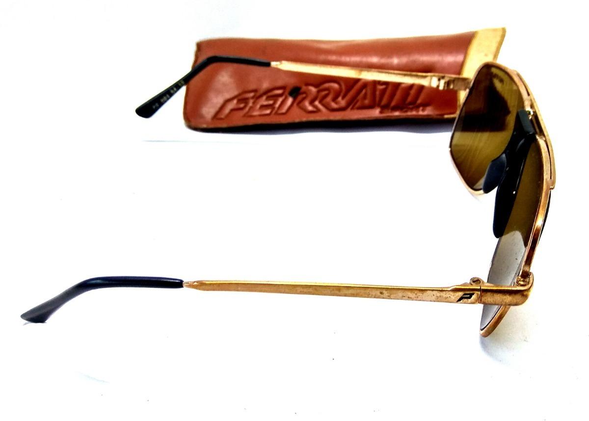 óculos escuro ferrati antigo com armação dourada anos 70. Carregando zoom. b56f4e5bdb