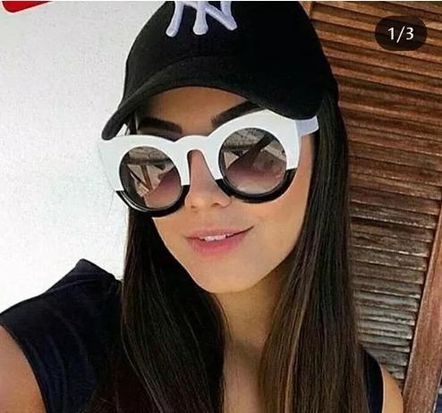 Óculos Escuro Gatinho Espelhado Blogueiras Feminino Da Moda - R  49 ... 5e19ab6695