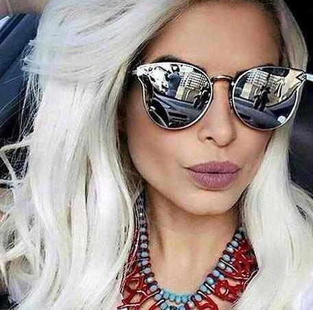 40e7565e0 Óculos Escuro Moda Blogueiras Importado Feminino Gatinho - R$ 41,37 ...