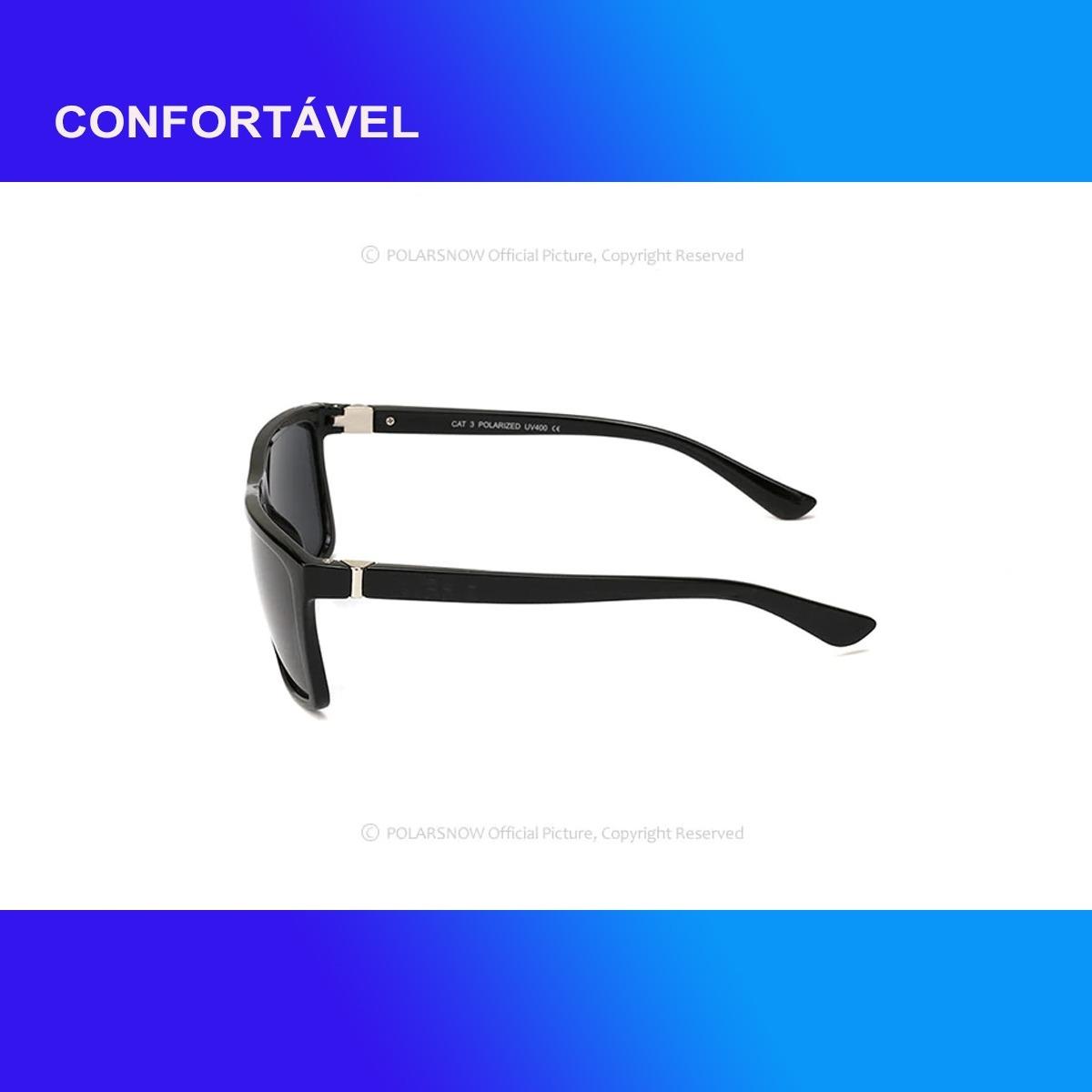 c7eab5f554b33 Óculos Escuros Masculino Polarizado Proteção Uv400 - R  70,00 em ...