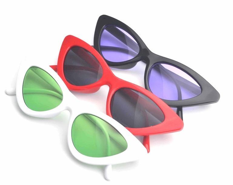 Óculos Escuros Triangular Sol Lolita Proteção Uva Uvb Femini - R  29 ... d30da3a08e