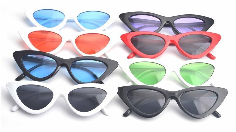óculos escuros triangular sol lolita proteção uva uvb femini. Carregando  zoom. 6d67ddfe9d