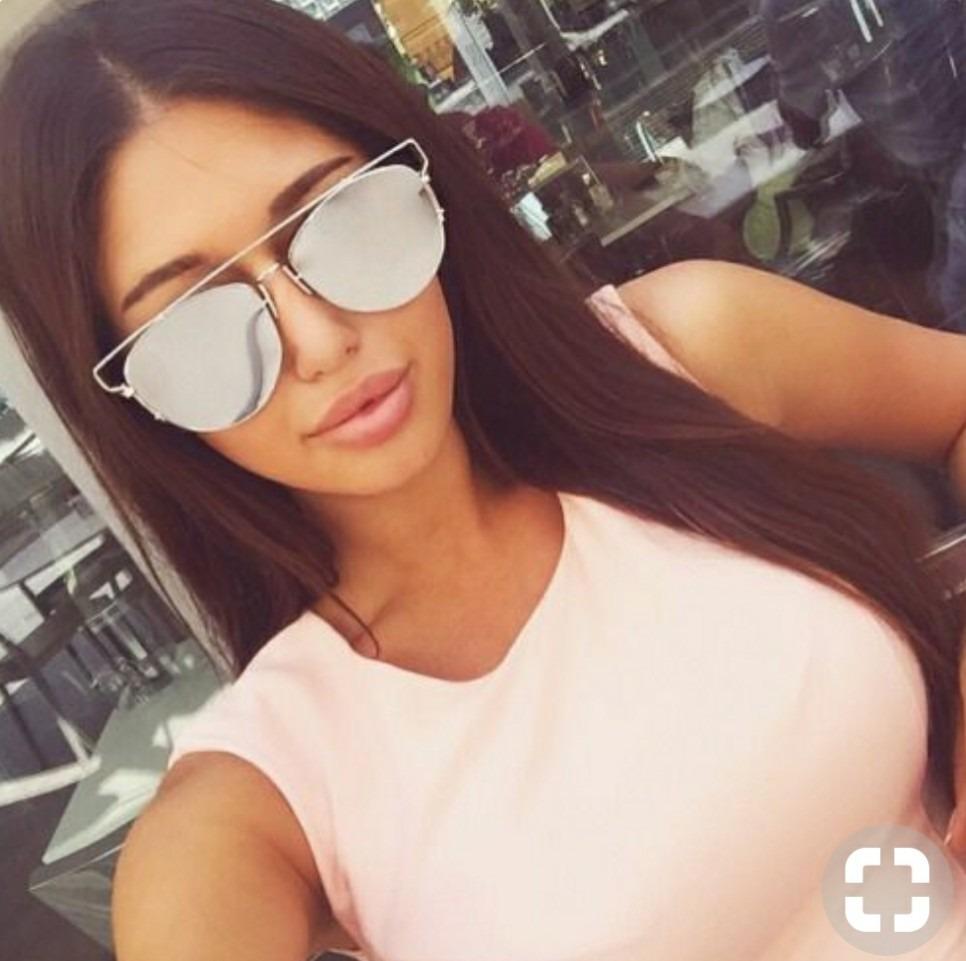 óculos espelhado feminino aviador quadrado praia verão 2019. Carregando  zoom. df4c4444e6