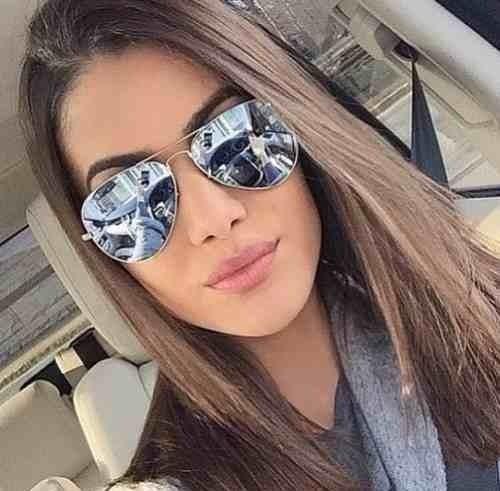 57f7c591d75ab Óculos Espelhado Feminino De Sol Escuro Aviador Barato Novo - R  39 ...