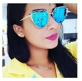 Óculos Espelhado Feminino Estiloso Blogueira Cores Promoção - R  79 ... 3e6e292bc7