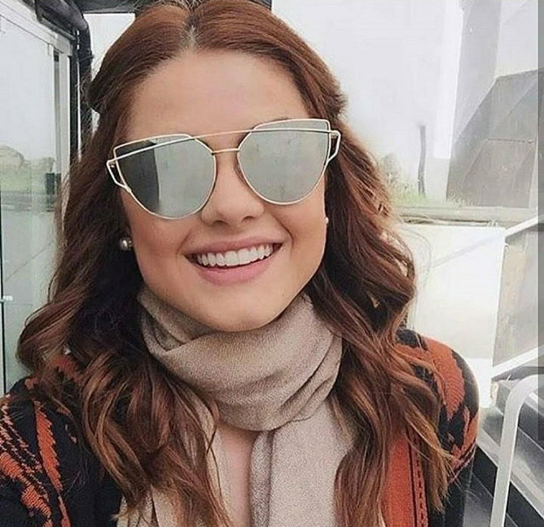 c87b112ed Óculos Espelhado Feminino Importado De Sol Escuro Pink Lindo - R$ 39 ...
